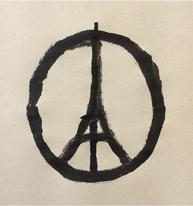 Jean Jullien Peace-for-Paris