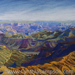 Grand Canyon Jazz   (Point Imperial, North Rim) by Cynthia Sampson