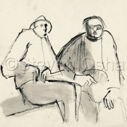 Two Men on a Bench by Steven Oshatz