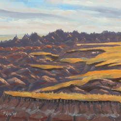 Late Afternoon - Big Badlands by Peter Kilian Fine Art