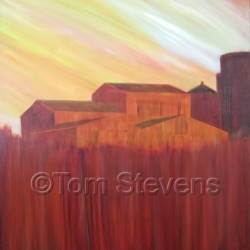 Summer Farm by Tom Stevens Fine Art