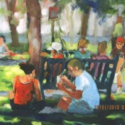Picnic in Rittenhouse by Susan Winter