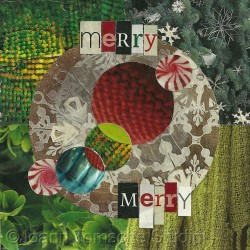 Merry Merry art tile by Joann Tomsche Studio