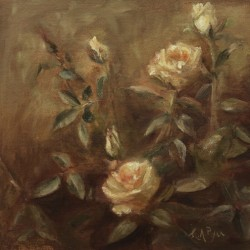 Peach Roses by Karen Ryan Fine Art