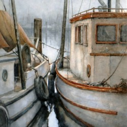 Fishermen's Terminal Boats by Ginny O'neill