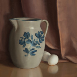 Pitcher and Eggs by Mary Kay West Fine Art
