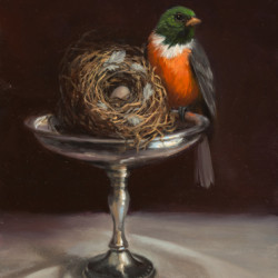 Nest and Silver Plater by Mary Kay West Fine Art