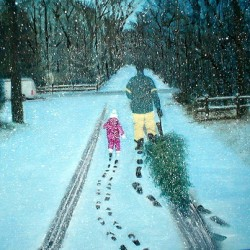 Walking In The Snow by Dolores Cohen