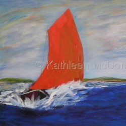 Galway Hooker by Kathleen Mcdonald