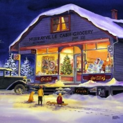 Murrayville Cash Grocery - Christmas Eve by Brian Croft