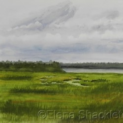 Sea Isle, Marshland by Elena Shackleton