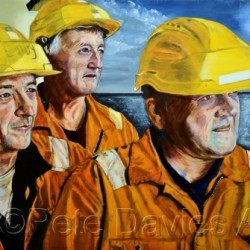 North Sea Deck Crew by Pete Davies Art