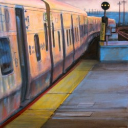 Commuter Rail Sunset by Daniel Van Benthuysen