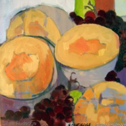 Cantalope & Grapes by Silvia Rutledge