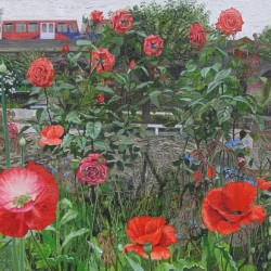 Poppies and Roses at Cable Street (2013) by Nessie Ramm