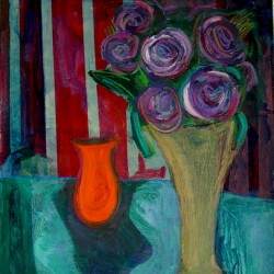 still life w/ orange vessel by Marc Awodey