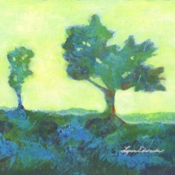 Ethereal Trees - Blue by Lynn Edwards Art