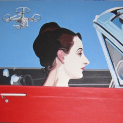 Madame X's Mustang (after Sargent) by Salvatore Gulino