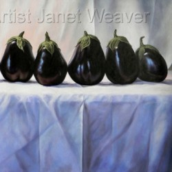 Les Aubergines I by Artist Janet Weaver