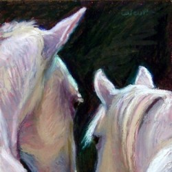 Horse Couple by Nancy Calcutt