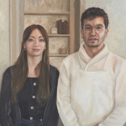 Brian and Lara Ode to American Gothic by Denise Pollack