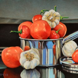 Tomato, Pepper and Garlic by Kenneth P. Cobb