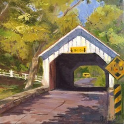 Loux Covered Bridge by Connie Dierks Fine Art