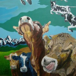 Outlier Cows by Ron Hurst, Artist - Painter