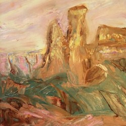 Chimney Rock in PInk by Erinn Heather