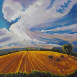 Where Earth Meets Sky by Gina Grundemann, Colorado Painter