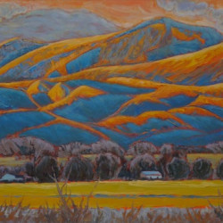 Even the Adobes get the Blues by Gina Grundemann, Colorado Painter