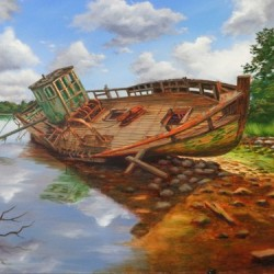 Abandoned Fishing Boat by Dale Warren