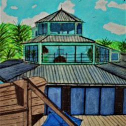 View of The Cocnch House from the Tiki Hut by Hayden Designs