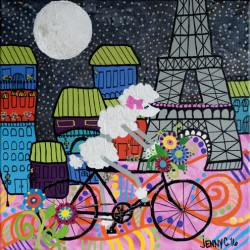 POODLE IN PARIS by Jenny Colesberry