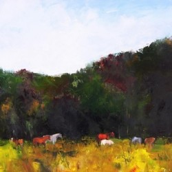Grazing Horses by Barbara Walter