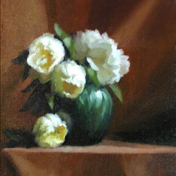 Peonies in a Green Vase by Murray Smith