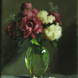 Peonies and Vibernum by Murray Smith
