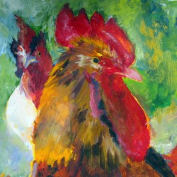 Mad Rooster by Jennifer Vonstein