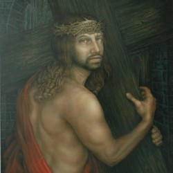 Jesus Carries His Cross by Allen Capriotti