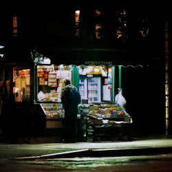 NEW YORK NEWSTAND, 3AM by D. Lindemann Photography Llc