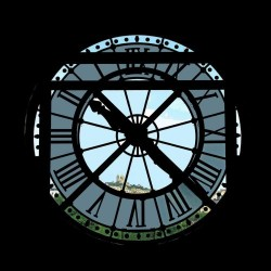 Clock, Musee d'Orsay, Paris by D. Lindemann Photography Llc