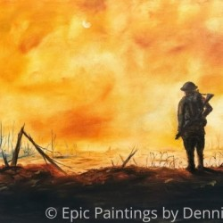 1918 by Epic Paintings By Dennis Estrada