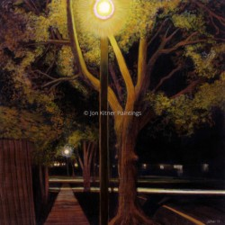 Street Light by Jon Kitner Paintings