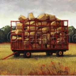 Hay Wagon by Tom Chesar