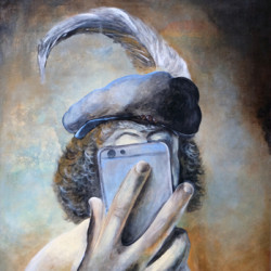 Selfy With A Plumed Beret by Anton Maliar
