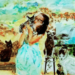 Social Distancing with Family by Ashley Fine Arts