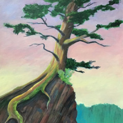 Solitary Tree (Yellowstone) by Pam Gosner