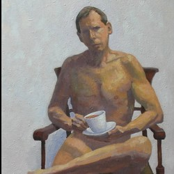 Self-Portrait With Tea by John Whitton Bria