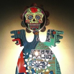 Day of the Dead Night Light by Liz Franklin Arts