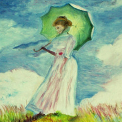Girl with the Green Umbrella from Monet by J.k. Nelson Gallery